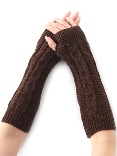 Hemp Decorative Pattern Crochet Knit Arm Warmers