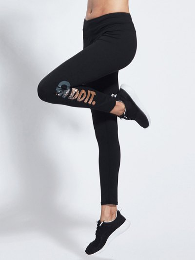 Letter Skinny Sports Pants