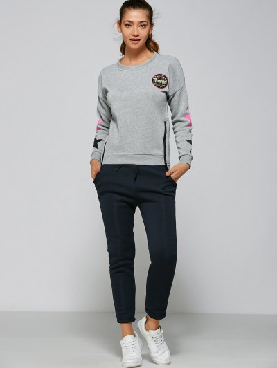 Side Zipper Sweatshirt Pants