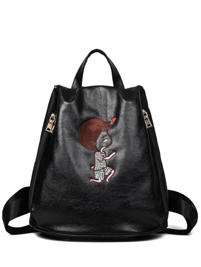 Embroidery Zippers Backpack