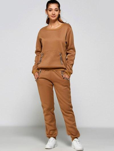 Chain Embellished Sweatshirt and Sweatpants