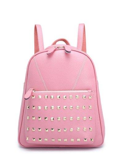 PU Leather Studded Backpack