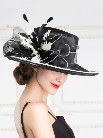 Big Brim Organza Hat