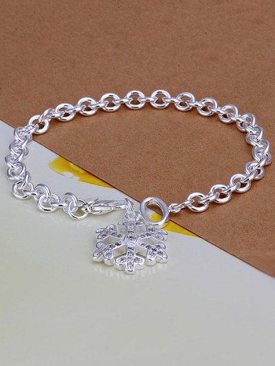 Snowflake Christmas Charm Bracelet