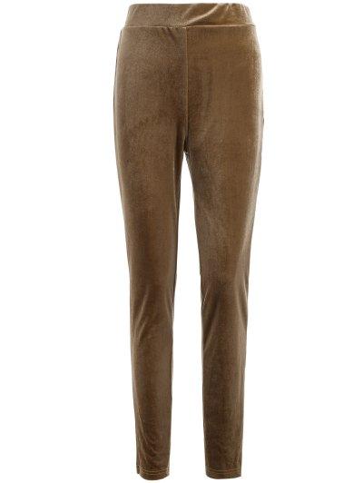 Metallic Color Slimming Leggings