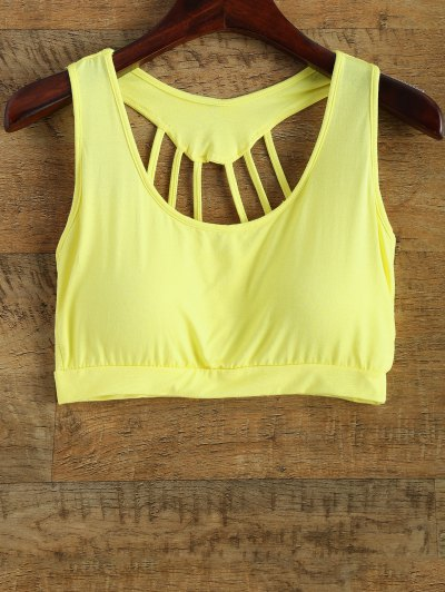 Back Strappy Padded Yoga Top