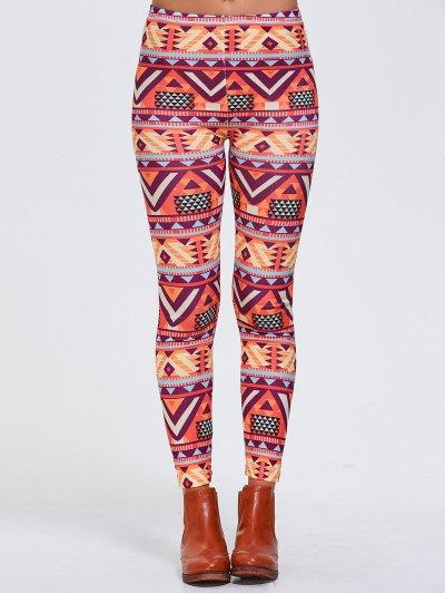 Geometric Print Stretchy Sports Leggings