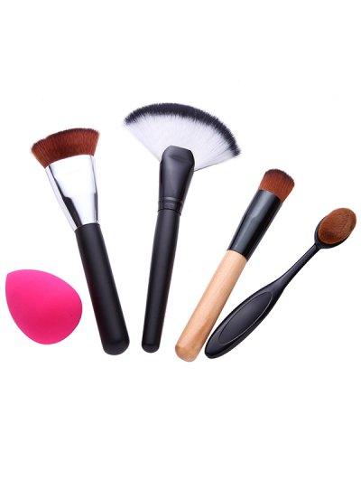 4 Pcs Facial Makeup Brushes Set with Beauty Blender