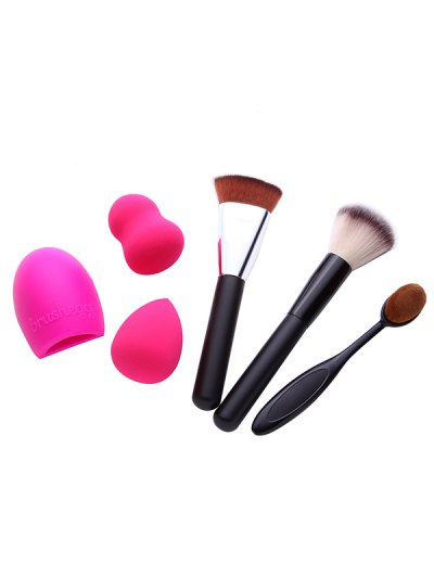 3 Pcs Makeup Brushes Beauty Blenders Brush Egg