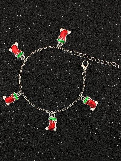 Christmas Moon Boots Charm Bracelet