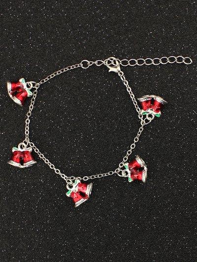 Bows Christmas Bells Charm Bracelet
