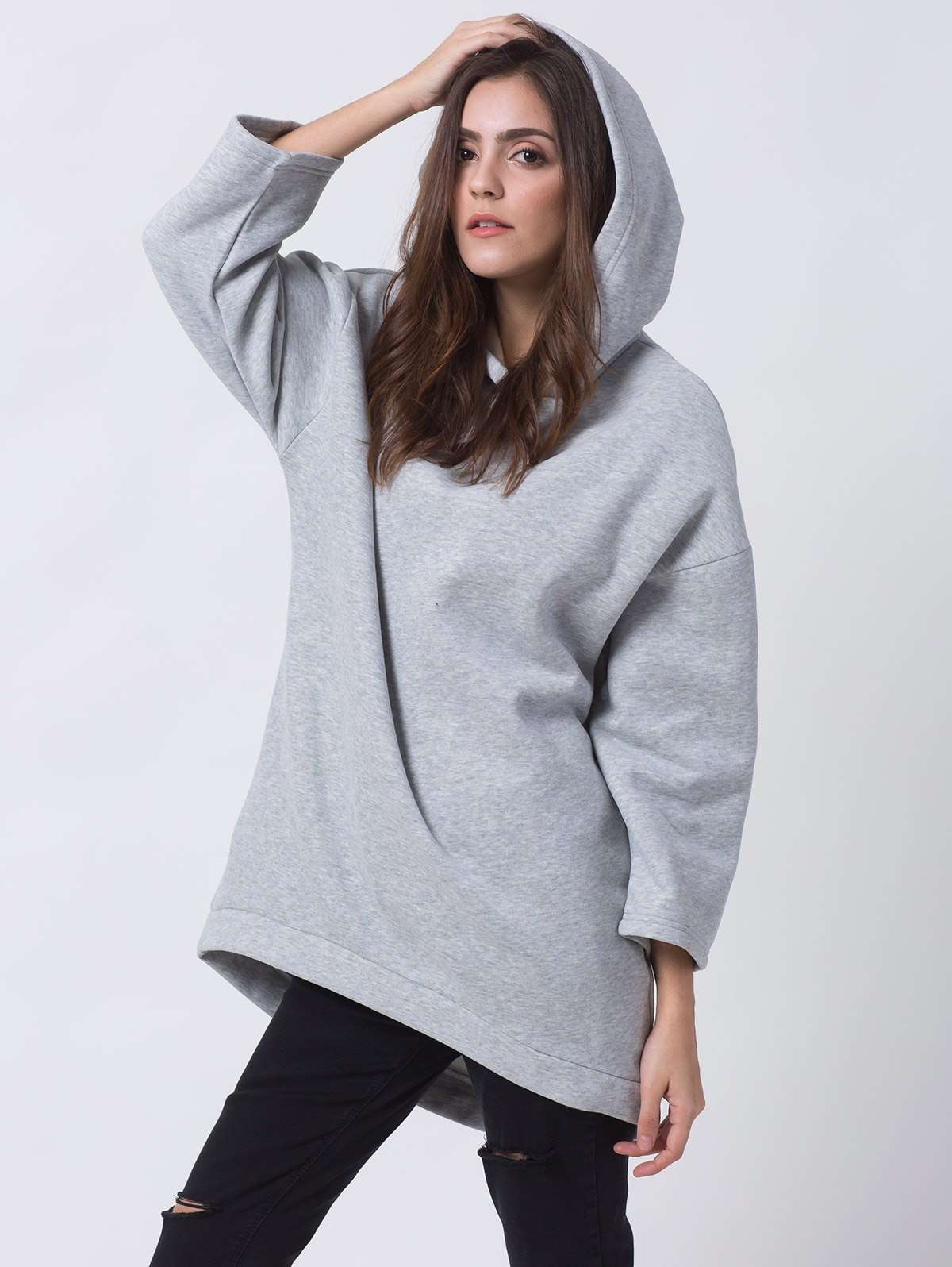 Casual High Low Hoodie