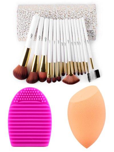15 pcs Makeup Brushes Kit Beauty Blender Brush Egg