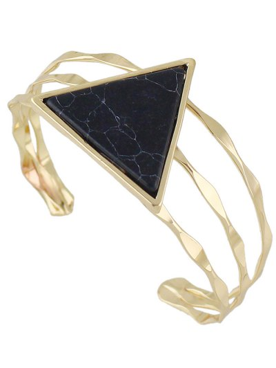 Artificial Gem Triangle Cuff Bracelet