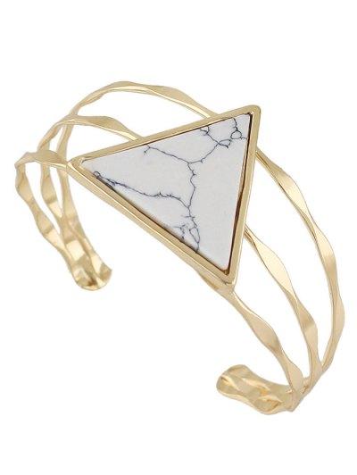 Artificial Gem Triangle Cuff Bracelet