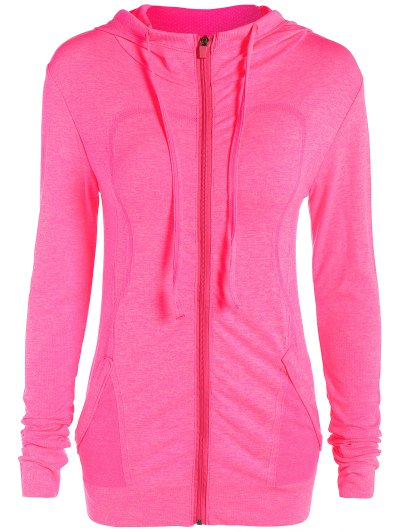 Marlled Knit Hooded Sports Jacket