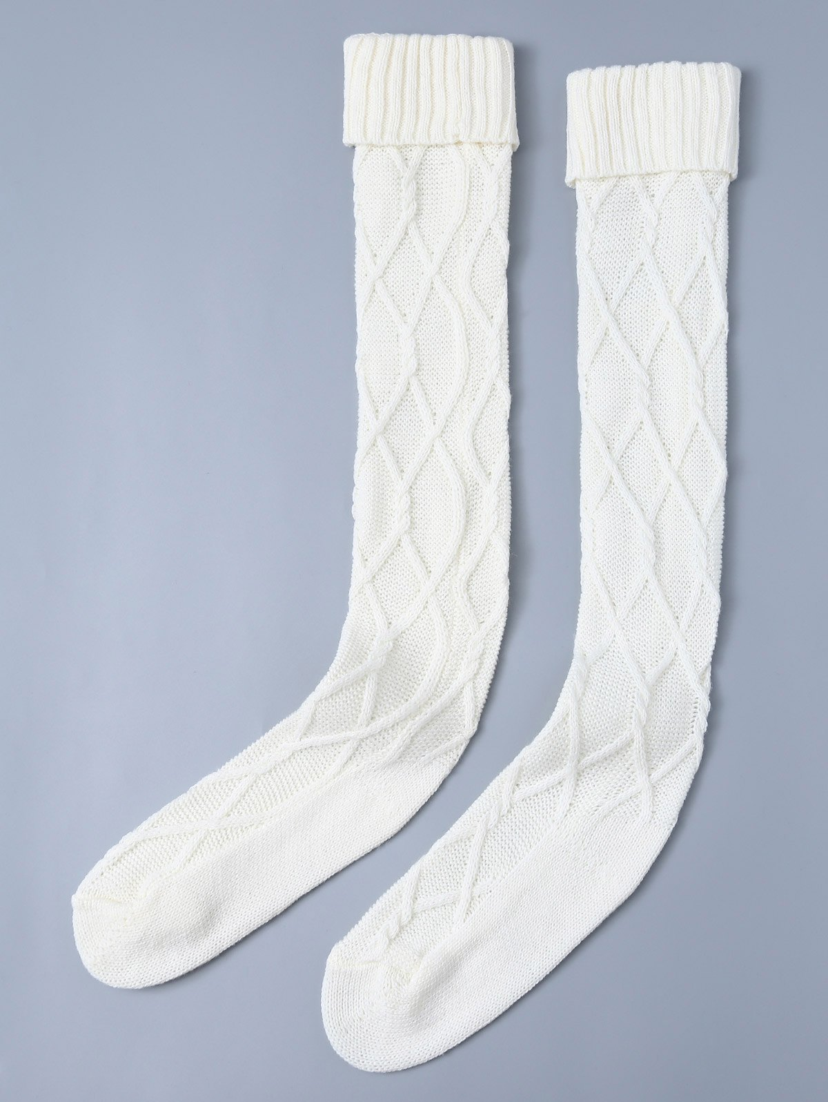 Knitted Notched Skinny Stockings