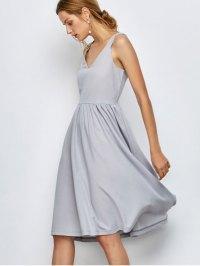 Knee Length A Line Dress GRAY: Summer Dresses S | ZAFUL
