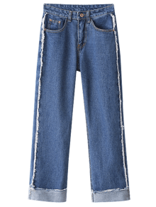 Straight Cuffed Jeans