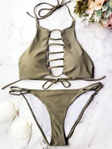 Padded Ladded Cut Out Bikini Set