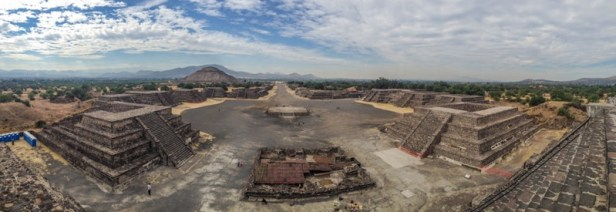 pyramide Teotihuacan mexique panoramique