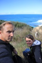Katiki Point - manchot antipode Selfie
