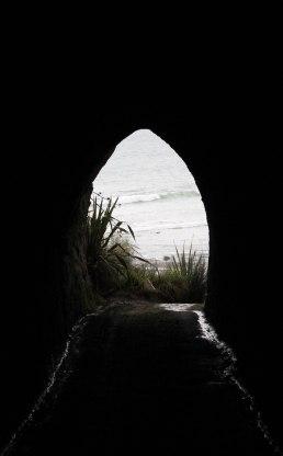 Waikawau tunnel beach