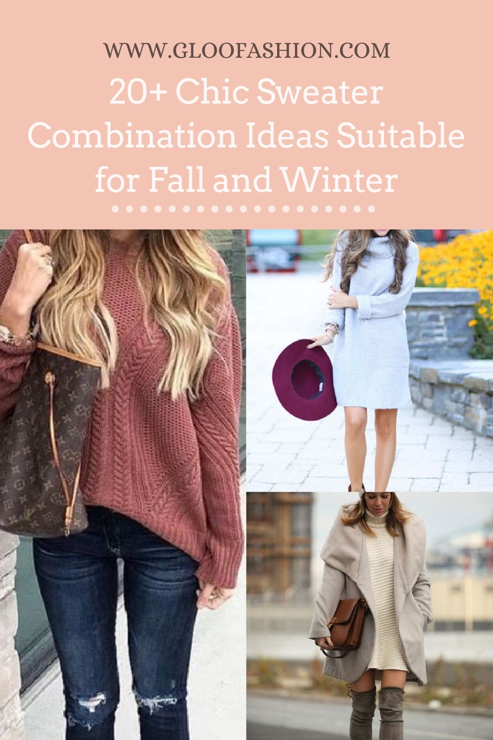 20+ Chic Sweater Combination Ideas Suitable For Fall And Winter