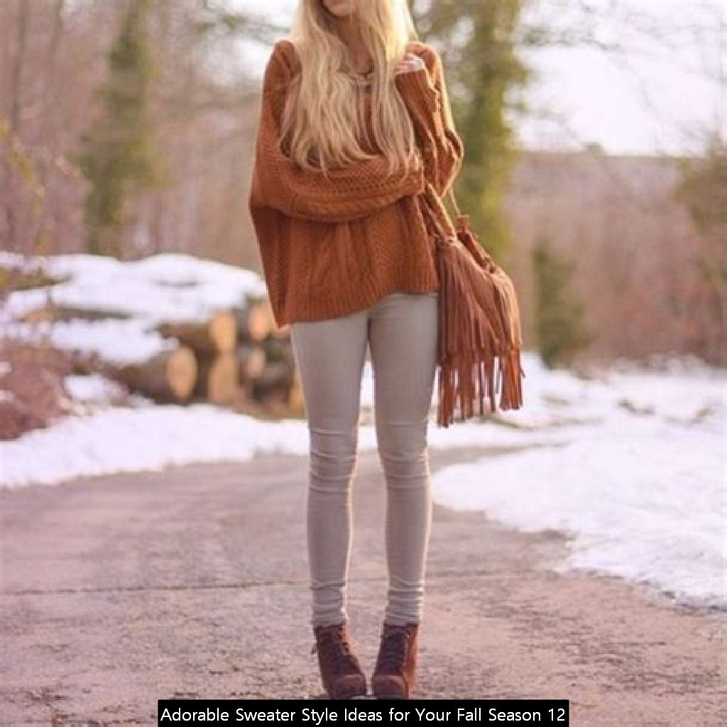 Adorable Sweater Style Ideas For Your Fall Season 12