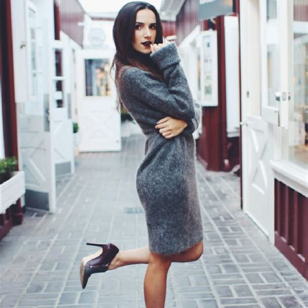 Chic Sweater Combination Ideas Suitable For Fall And Winter 01