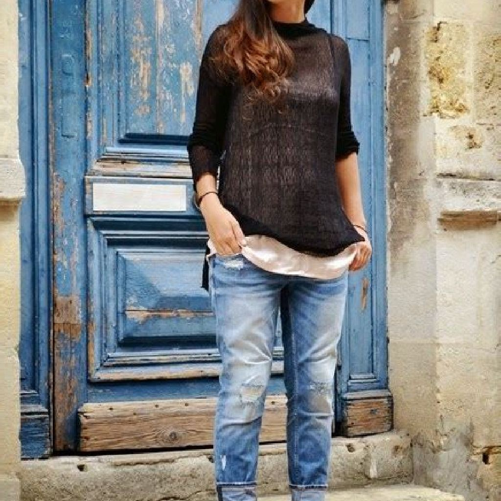 Chic Sweater Combination Ideas Suitable For Fall And Winter 05