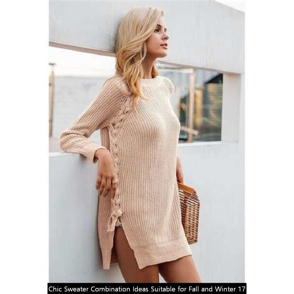 Chic Sweater Combination Ideas Suitable For Fall And Winter 17