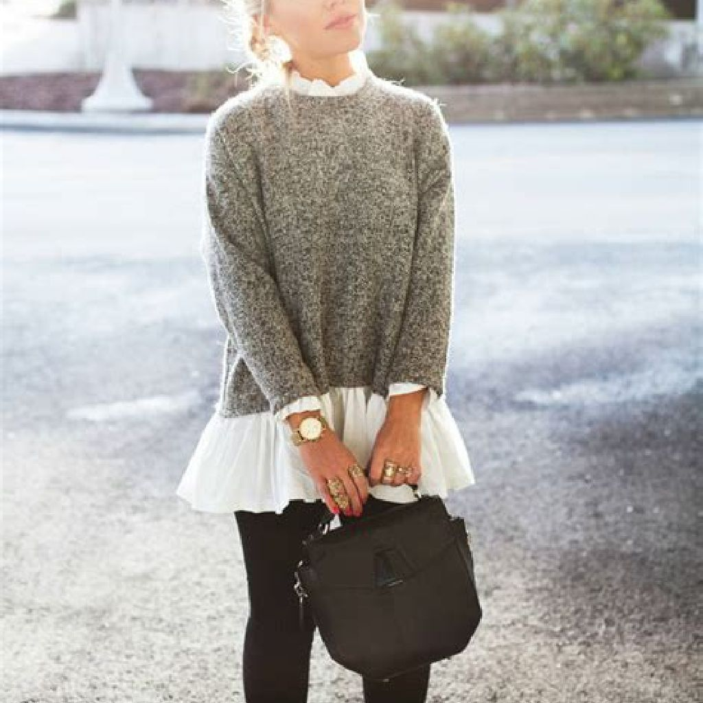 Chic Sweater Combination Ideas Suitable For Fall And Winter 24