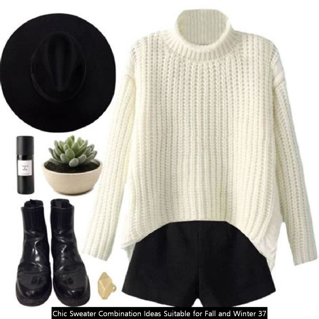 Chic Sweater Combination Ideas Suitable For Fall And Winter 37