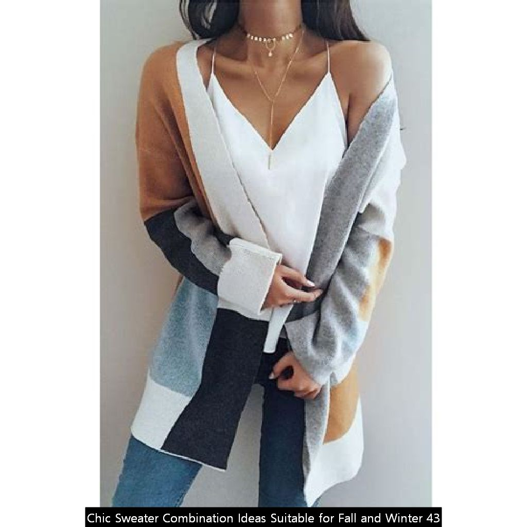 Chic Sweater Combination Ideas Suitable For Fall And Winter 43