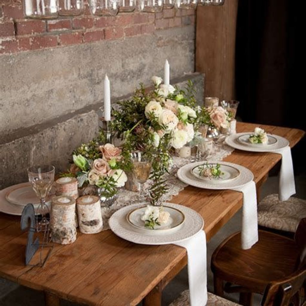 Romantic Rustic Wedding Decor Ideas 14