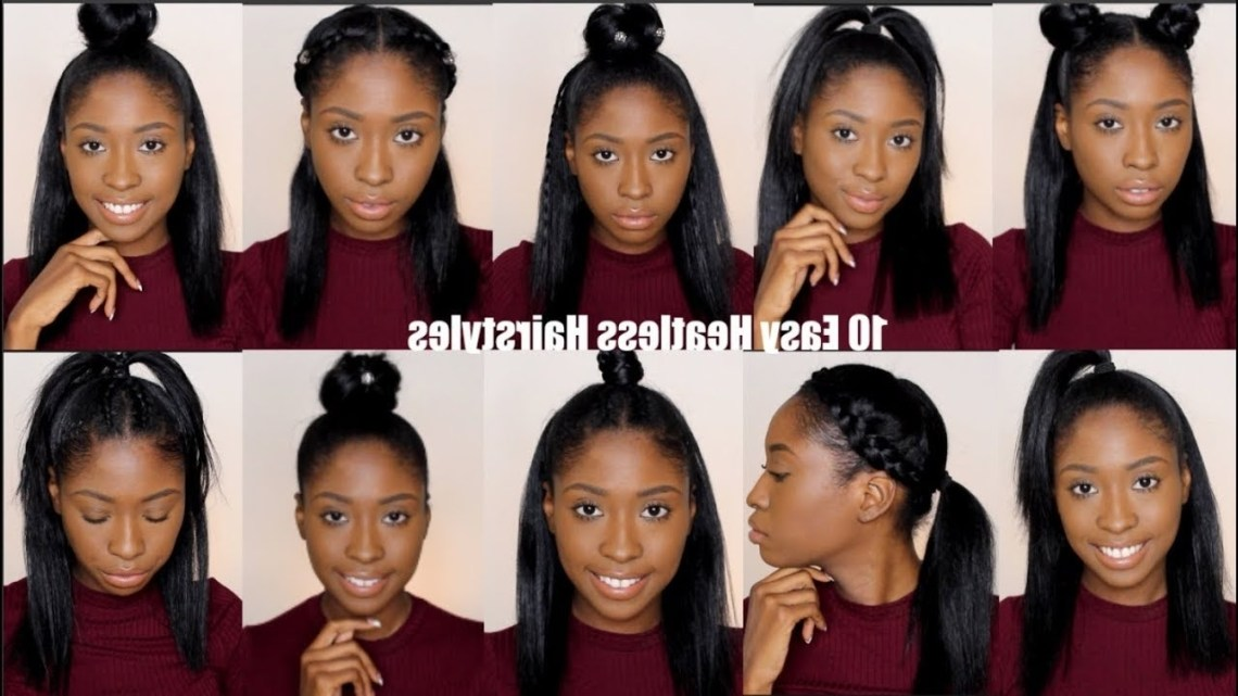10 Simple Quick And Easy Heatless Hairstyles For Straight Natural Hair 40+ Stylish Black Girl Hairstyles For Medium Hair