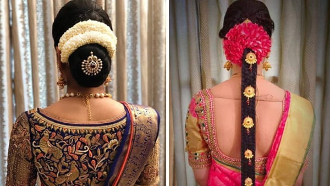 12 Popular South Indian Bridal Hairstyles South Indian Wedding Hairstyles For Medium Hair