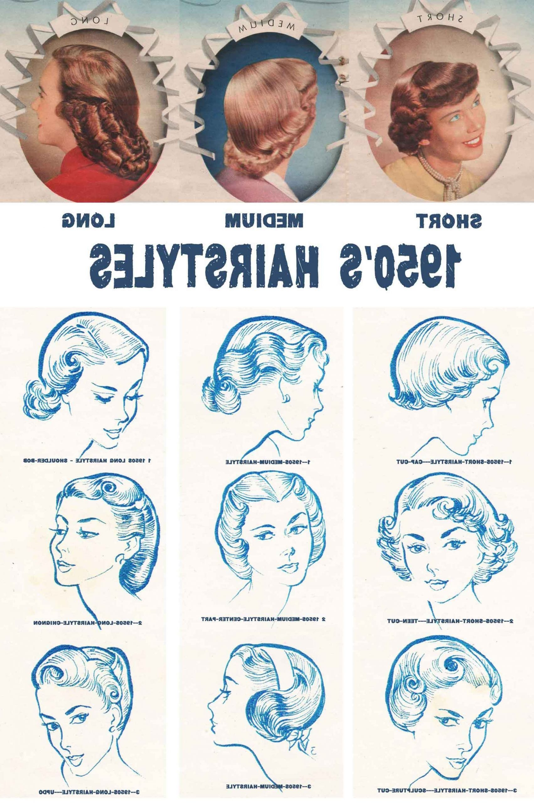 1950S Hairstyles Chart For Your Hair Length | Glamour Daze 1950S Hairstyles For Medium Hair