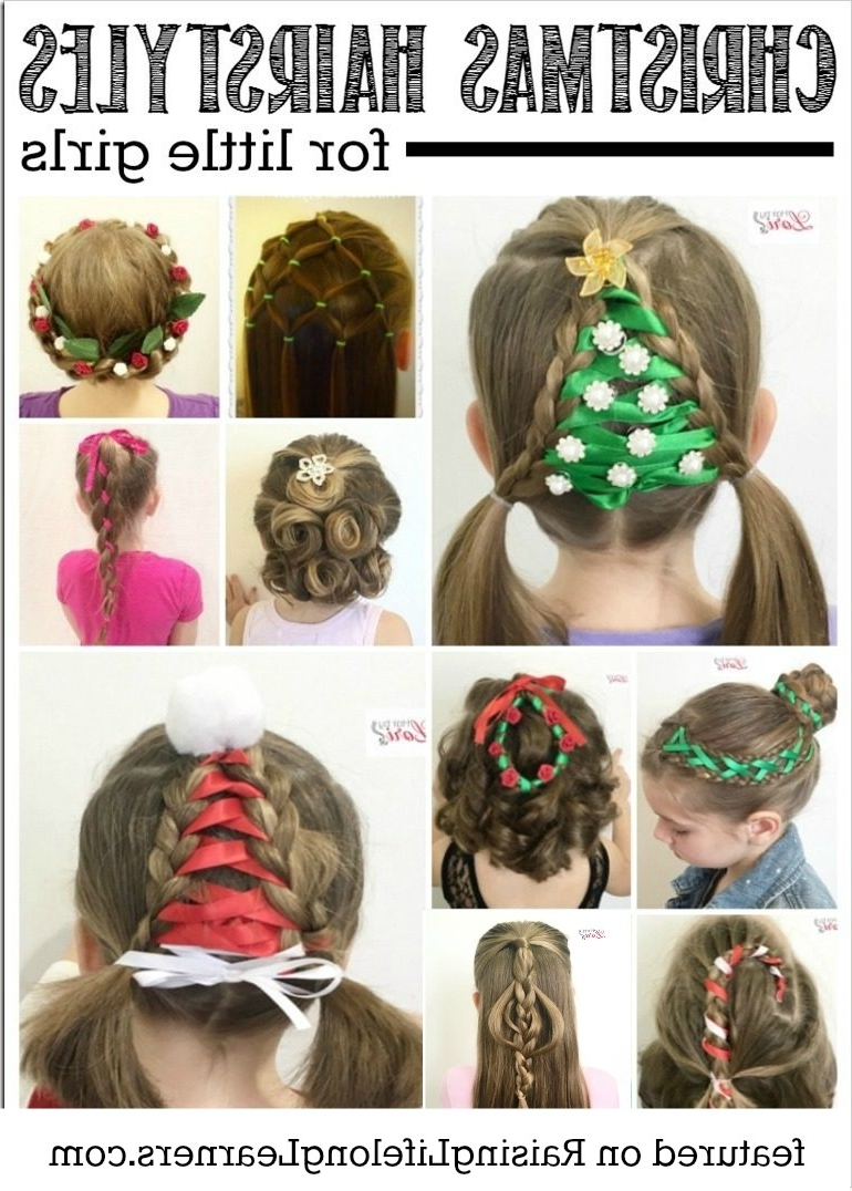 20 Easy Christmas Hairstyles For Little Girls 10+ Stylish Christmas Party Hairstyles For Medium Hair