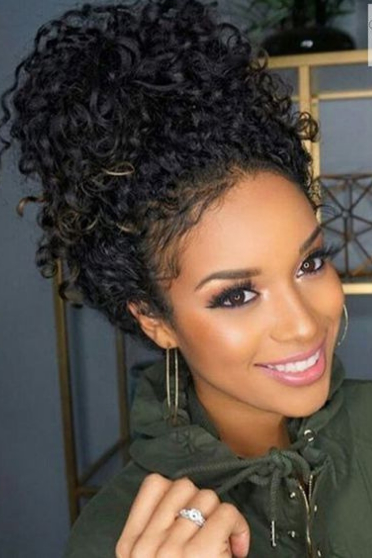 20 Easy, Everyday Hairstyles For Black Women Hairstyle On Curly Hairstyles For Medium Hair For Black Women