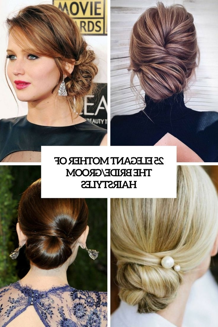 25 Elegant Mother Of The Bride/Groom Hairstyles | Wedding Medium Length Hair Hairstyles With Fascinators