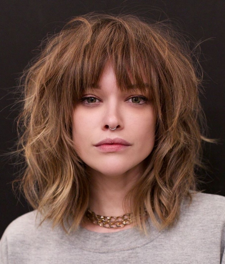 25 Latest Medium Length Hairstyles With Bangs For 2020 30+ Stunning Medium Length Hairstyles With Straight Bangs