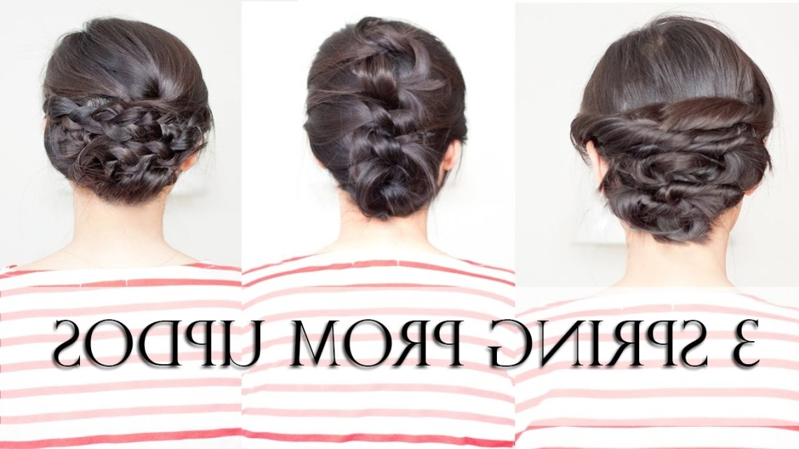 3 Easy Spring Prom Updos For Shoulder Medium Length Hair (No Heat) Updo Prom Hairstyles For Medium Hair