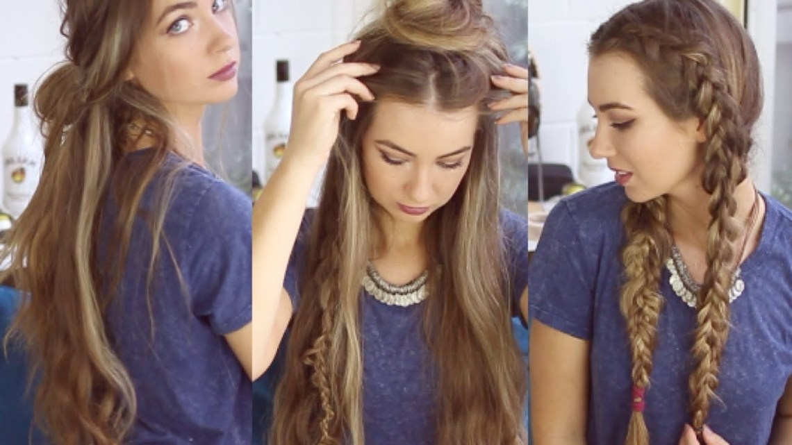 3 Quick And Easy Boho Hairstyles // Cute Heatless Hairstyles 30+ Amazing Cute Boho Hairstyles For Medium Hair
