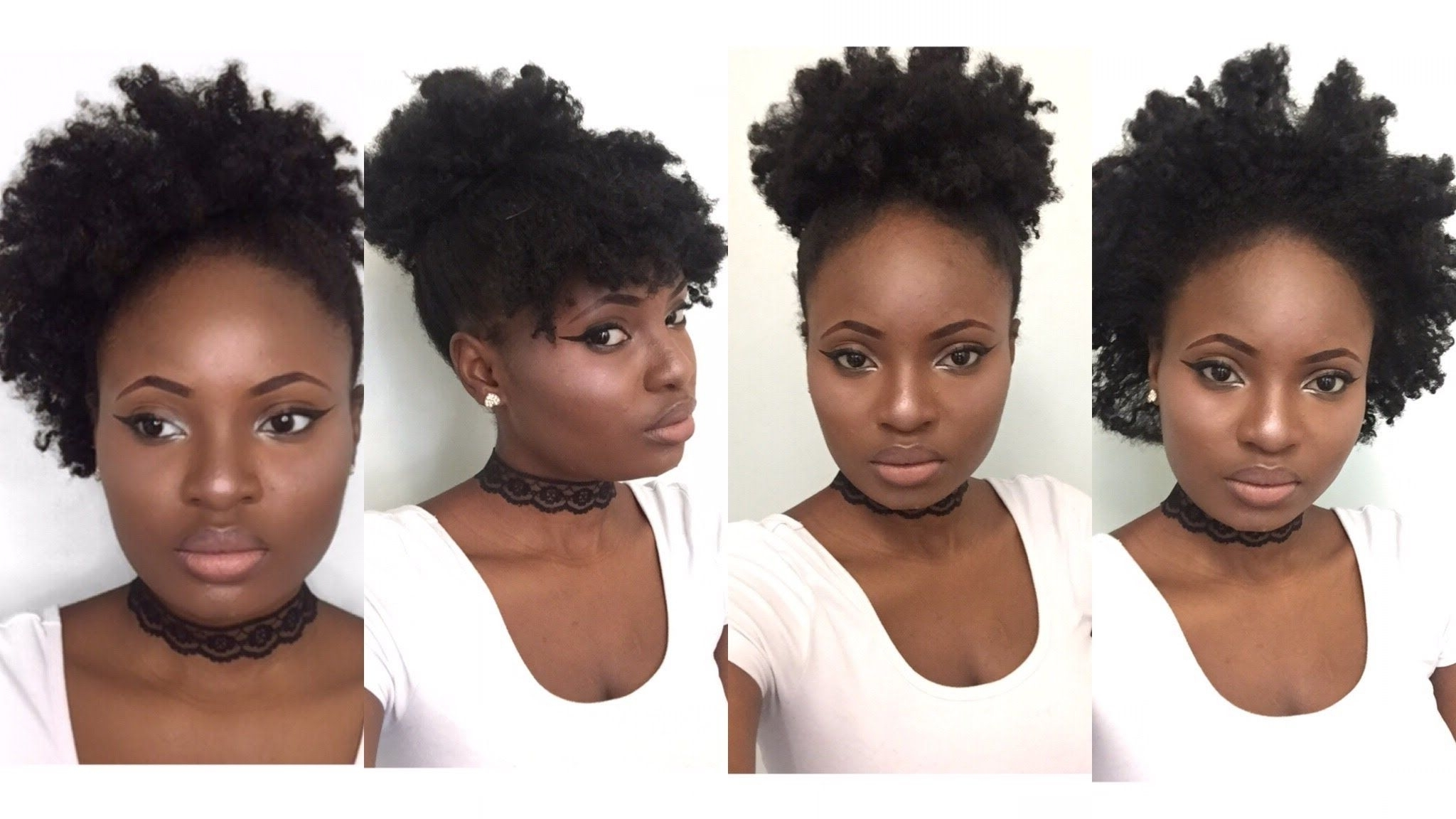 4 Simple Back To School Hairstyles For Medium Natural Hair 4C Natural Hairstyles Medium Length