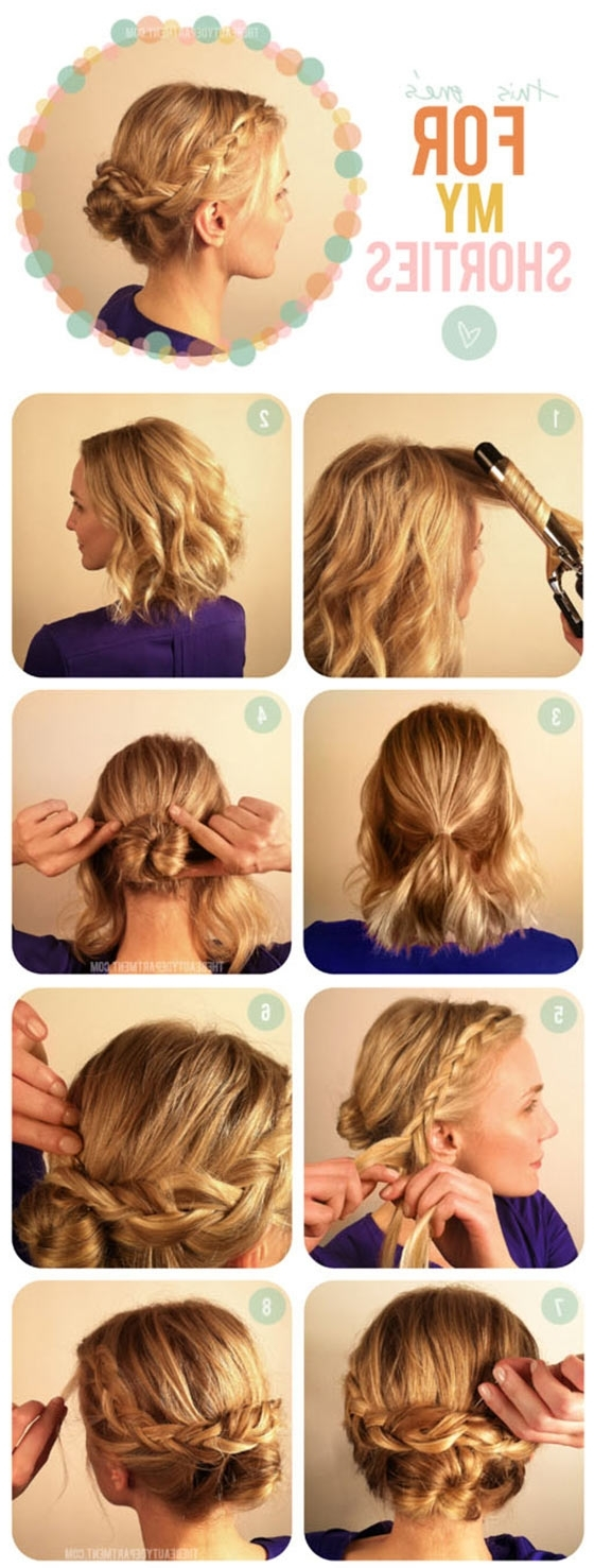 40 Quick And Easy Updos For Medium Hair Casual Braided Hairstyles For Medium Hair