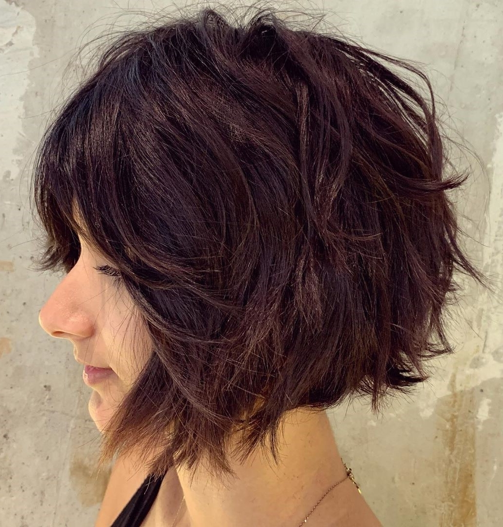 40 Short Hairstyles For Thick Hair (Trendy In 2019 2020 40+ Cute Hairstyles Thick Coarse Hair Medium Length