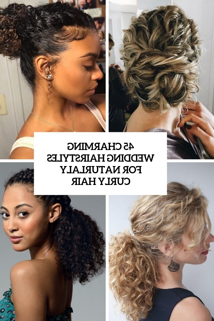 45 Charming Bride'S Wedding Hairstyles For Naturally Curly 10+ Stunning Wedding Hairstyles For Medium Length Hair Curly