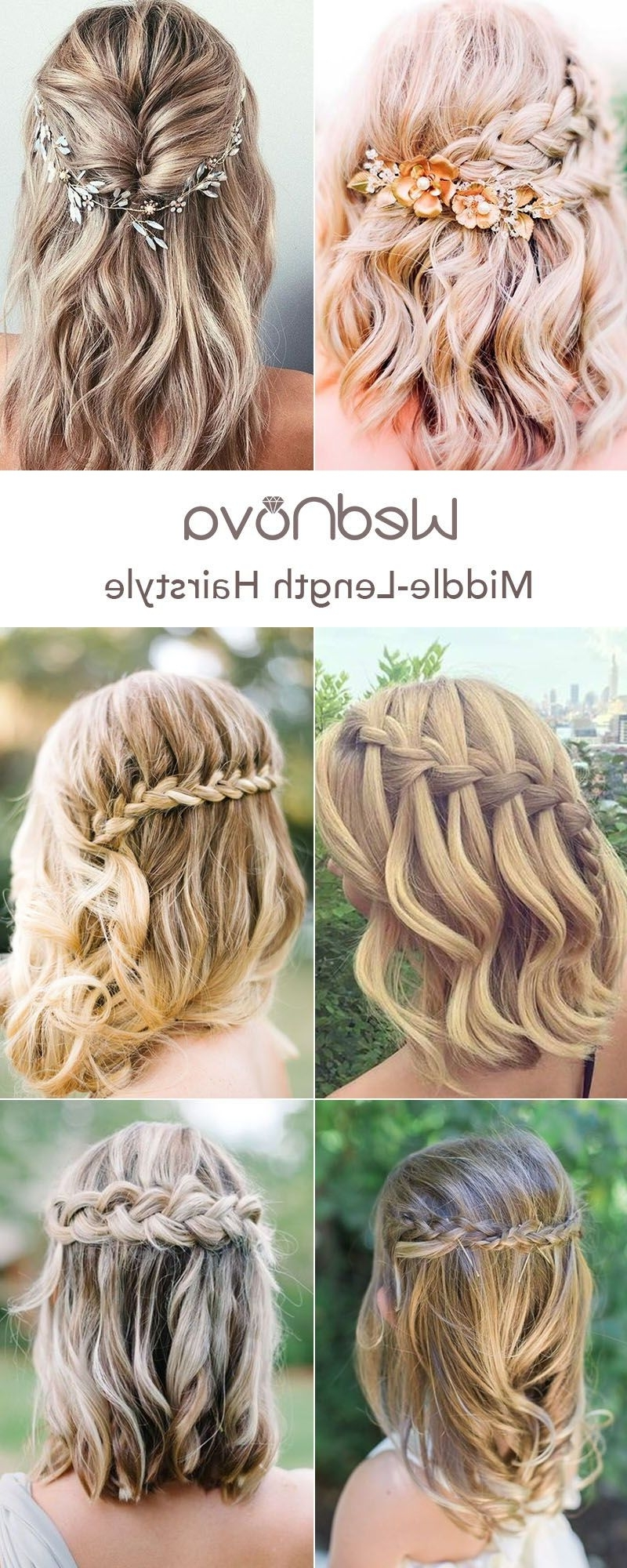 48 Easy Wedding Hairstyles Best Guide For Your Bridesmaids Hairstyles For Weddings Medium Hair Down